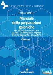 Tecniche Nuove - Manuale delle preparazioni galeniche